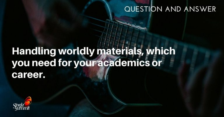 How do I handle materials such as songs or books which are not Spirit-filled, but necessary for my academics or career?